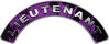 Lieutenant Fire Fighter, EMS, Rescue Helmet Arc / Rockers Decal Reflective In Inferno Purple Real Flames