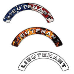 Reflective Firefighter Lieutenant Crescent Fire Helmet Decals