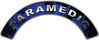 Paramedic Fire Fighter, EMS, Rescue Helmet Arc / Rockers Decal Reflective In Inferno Blue Real Flames