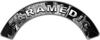 Paramedic Fire Fighter, EMS, Rescue Helmet Arc / Rockers Decal Reflective In Inferno Gray Real Flames