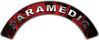 Paramedic Fire Fighter, EMS, Rescue Helmet Arc / Rockers Decal Reflective In Inferno Red Real Flames