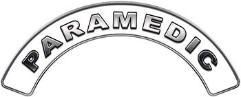 Paramedic Fire Fighter, EMS, Rescue Helmet Arc / Rockers Decal Reflective in White