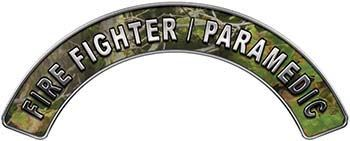 Paramedic Fire Fighter, EMS, Rescue Helmet Arc / Rockers Decal Reflective in Camo
