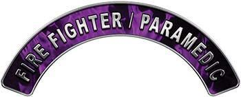Paramedic Fire Fighter, EMS, Rescue Helmet Arc / Rockers Decal Reflective in Purple Inferno Flames