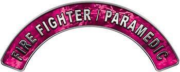Paramedic Fire Fighter, EMS, Rescue Helmet Arc / Rockers Decal Reflective in Pink Camo