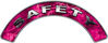 Safety Fire Fighter, EMS, Rescue Helmet Arc / Rockers Decal Reflective in Pink Camo
