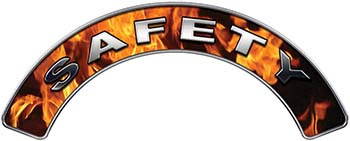 Safety Fire Fighter, EMS, Rescue Helmet Arc / Rockers Decal Reflective In Inferno Real Flames