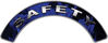 Safety Fire Fighter, EMS, Rescue Helmet Arc / Rockers Decal Reflective In Inferno Blue Real Flames