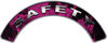 Safety Fire Fighter, EMS, Rescue Helmet Arc / Rockers Decal Reflective In Inferno Pink Real Flames