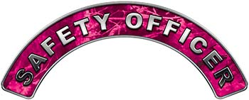 Safety Officer Fire Fighter, EMS, Rescue Helmet Arc / Rockers Decal Reflective in Pink Camo