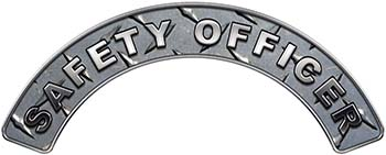 Safety Officer Fire Fighter, EMS, Rescue Helmet Arc / Rockers Decal Reflective in Diamond Plate