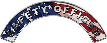 Safety Officer Fire Fighter, EMS, Rescue Helmet Arc / Rockers Decal Reflective With American Flag