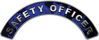 Safety Officer Fire Fighter, EMS, Rescue Helmet Arc / Rockers Decal Reflective In Inferno Blue Real Flames