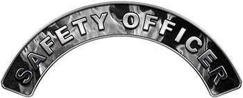 Safety Officer Fire Fighter, EMS, Rescue Helmet Arc / Rockers Decal Reflective In Inferno Gray Real Flames