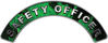 Safety Officer Fire Fighter, EMS, Rescue Helmet Arc / Rockers Decal Reflective In Inferno Green Real Flames