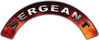 Sergeant Fire Fighter, EMS, Rescue Helmet Arc / Rockers Decal Reflective in Real Fire