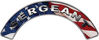 Sergeant Fire Fighter, EMS, Rescue Helmet Arc / Rockers Decal Reflective With American Flag