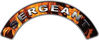 Sergeant Fire Fighter, EMS, Rescue Helmet Arc / Rockers Decal Reflective In Inferno Real Flames