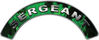 Sergeant Fire Fighter, EMS, Rescue Helmet Arc / Rockers Decal Reflective In Inferno Green Real Flames