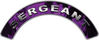 Sergeant Fire Fighter, EMS, Rescue Helmet Arc / Rockers Decal Reflective In Inferno Purple Real Flames