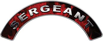 Sergeant Fire Fighter, EMS, Rescue Helmet Arc / Rockers Decal Reflective In Inferno Red Real Flames