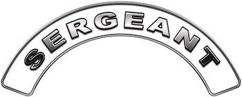 Sergeant Fire Fighter, EMS, Rescue Helmet Arc / Rockers Decal Reflective in White