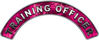 Training Officer Fire Fighter, EMS, Rescue Helmet Arc / Rockers Decal Reflective in Pink Camo