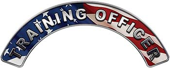 Training Officer Fire Fighter, EMS, Rescue Helmet Arc / Rockers Decal Reflective With American Flag