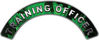 Training Officer Fire Fighter, EMS, Rescue Helmet Arc / Rockers Decal Reflective In Inferno Green Real Flames