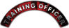 Training Officer Fire Fighter, EMS, Rescue Helmet Arc / Rockers Decal Reflective In Inferno Red Real Flames