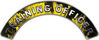 Training Officer Fire Fighter, EMS, Rescue Helmet Arc / Rockers Decal Reflective In Inferno Yellow Real Flames