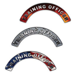 Reflective Firefighter Training Officer Crescent Fire Helmet Decals