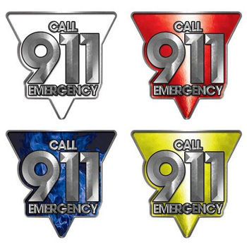 Call 911 Emergency Police, Fire & EMS Decals