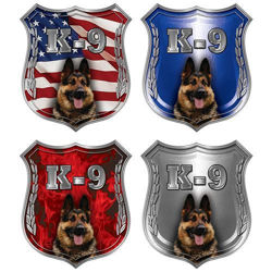 German Shepherd K-9 Police Dog Decals