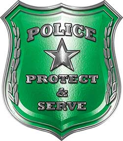 Protect and Serve Police Law Enforcement Decal in Green