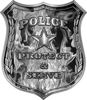 Protect and Serve Police Law Enforcement Decal in Gray Inferno Flames