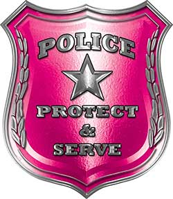 Protect and Serve Police Law Enforcement Decal in Pink