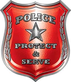 Protect and Serve Police Law Enforcement Decal in Red