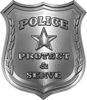 Protect and Serve Police Law Enforcement Decal in Silver