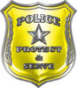 Protect and Serve Police Law Enforcement Decal in Yellow