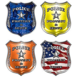 Protect and Serve Police Decals