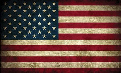 Grunge Style American Flag Decal