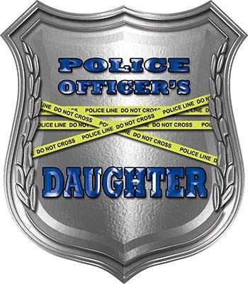 Police Officers Daughter Police Law Enforcement Decals