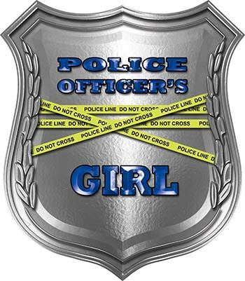 Police Officers Girl Police Law Enforcement Decals