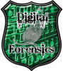 Digital Computer Forensics Police / Law Enforcement Decal in Green