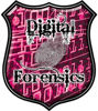 Digital Computer Forensics Police / Law Enforcement Decal in Pink