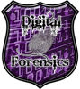 Digital Computer Forensics Police / Law Enforcement Decal in Purple
