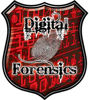 Digital Computer Forensics Police / Law Enforcement Decal in Red