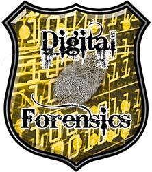 Digital Computer Forensics Police / Law Enforcement Decal in Yellow