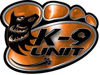 K-9 Law Enforcement Police Dog Paw Decal in Orange